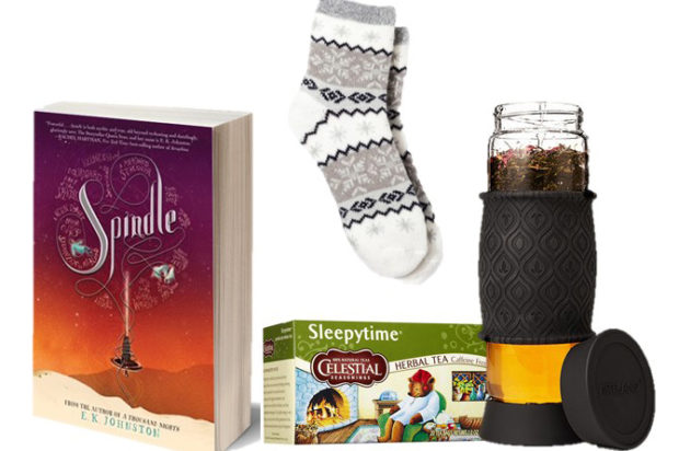 Giveaway! Win SPINDLE by E.K. Johnston + a tea infuser and other goodies!